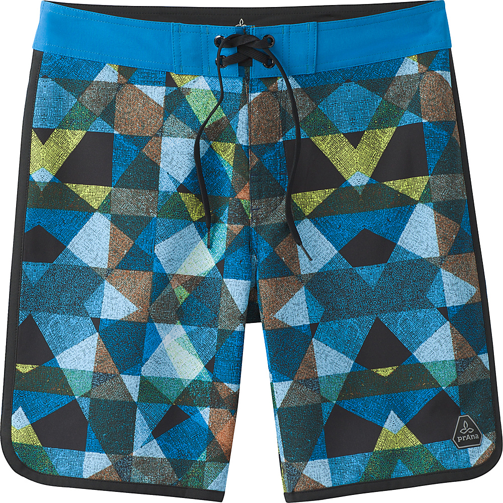 PrAna High Seas Shorts 38 - Vortex Blue Dune - PrAna Mens Apparel - Apparel & Footwear, Men's Apparel