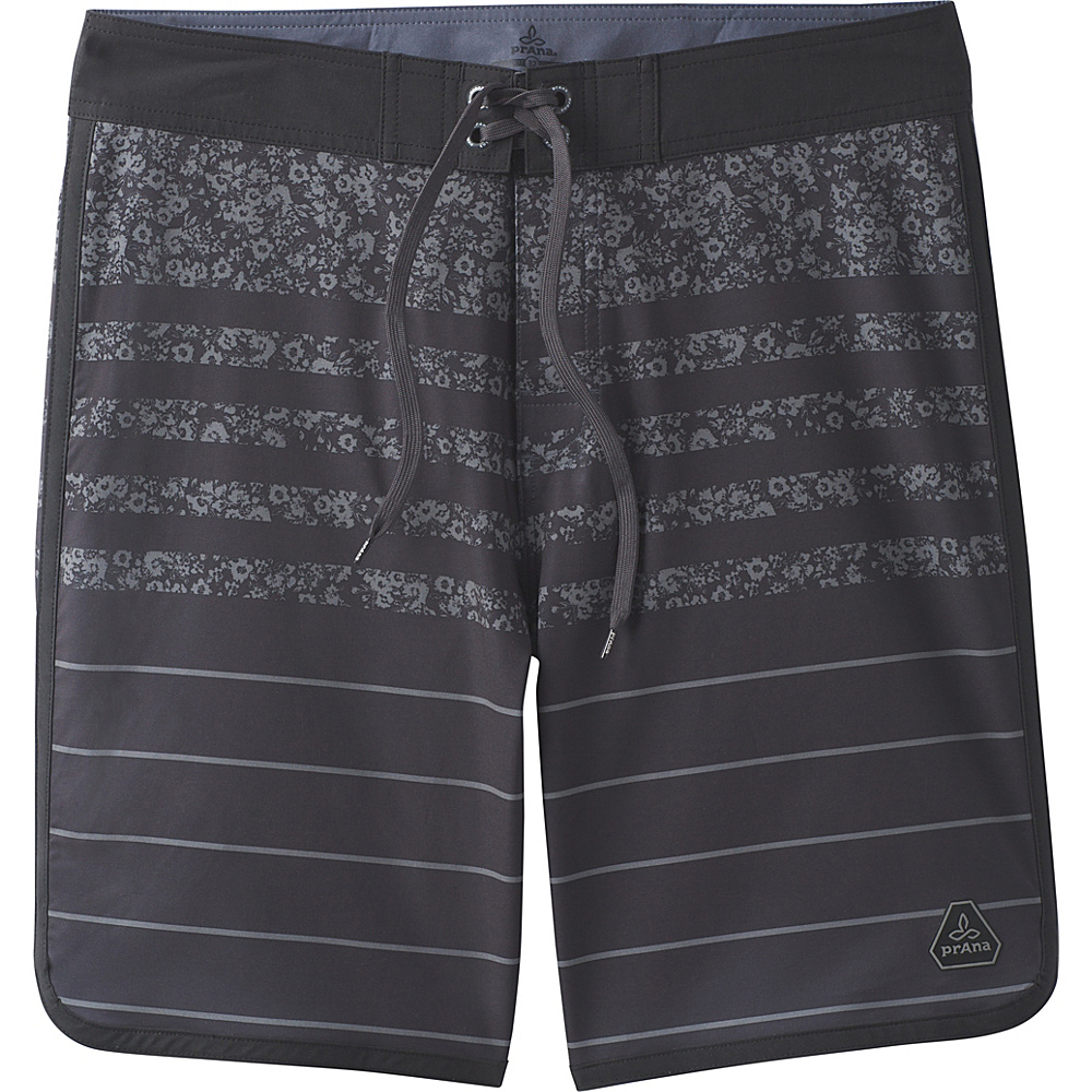 PrAna High Seas Shorts 40 - Black Field Stripe - PrAna Mens Apparel - Apparel & Footwear, Men's Apparel