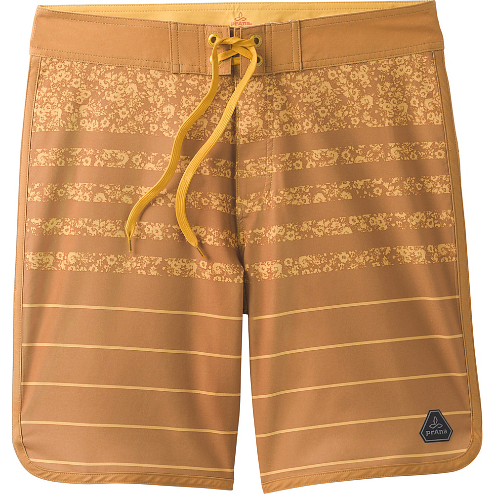 PrAna High Seas Shorts 30 - Cumin Field Stripe - PrAna Mens Apparel - Apparel & Footwear, Men's Apparel