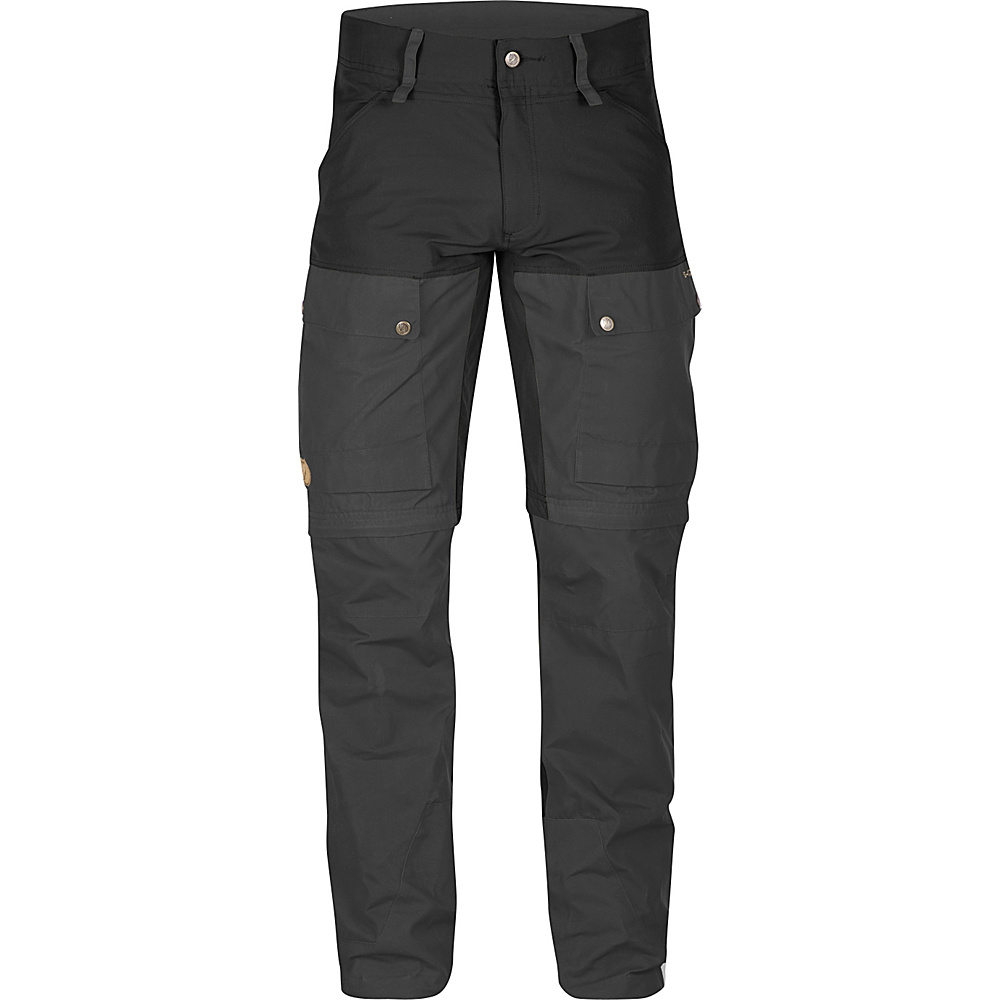 Fjallraven Keb Gaiter Trousers Long 56 - Black - 34 - Fjallraven Mens Apparel - Apparel & Footwear, Men's Apparel