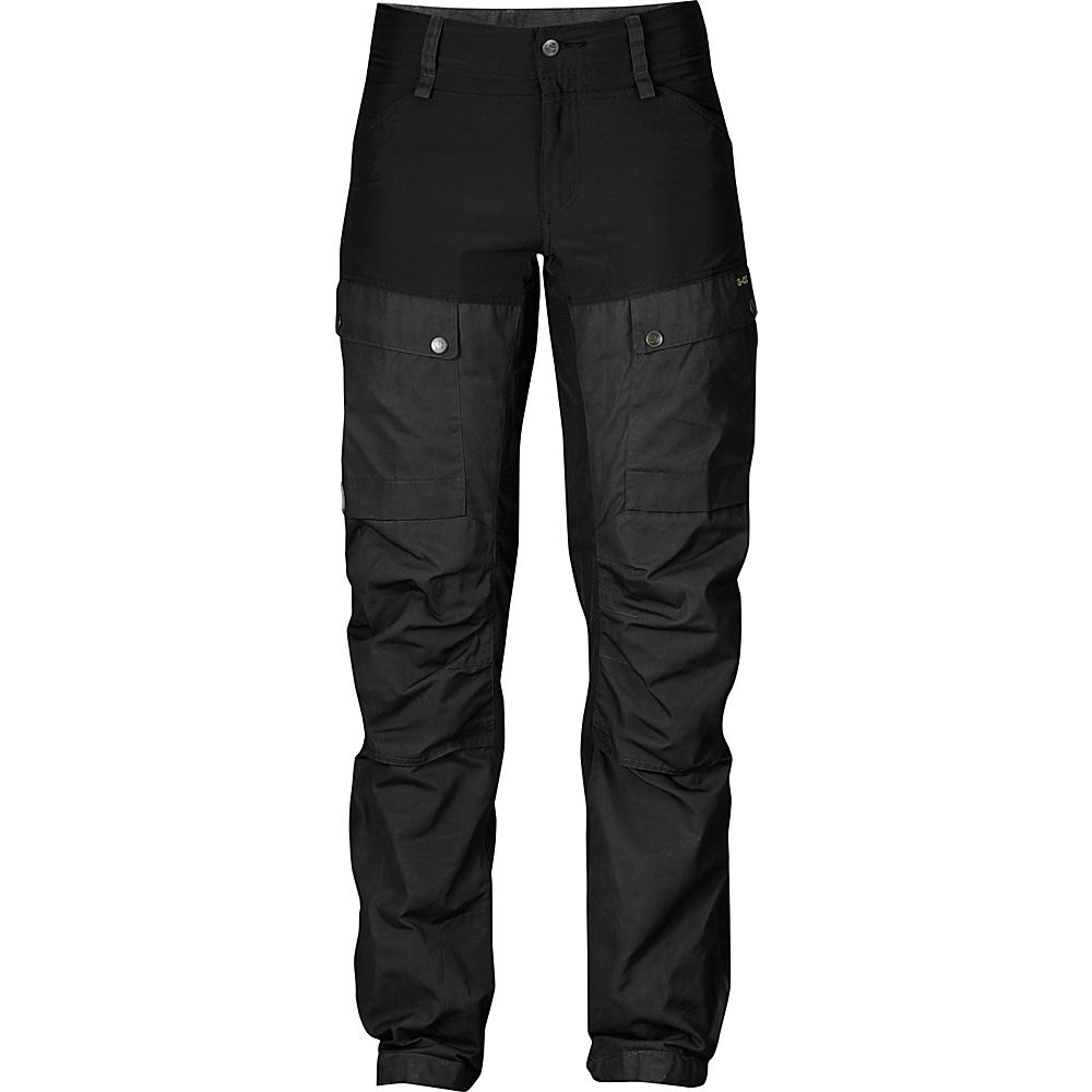 Fjallraven Womens Keb Trousers Regular EU 44 (US Womens 14) - Black - 34 - Fjallraven Womens Apparel - Apparel & Footwear, Women's Apparel