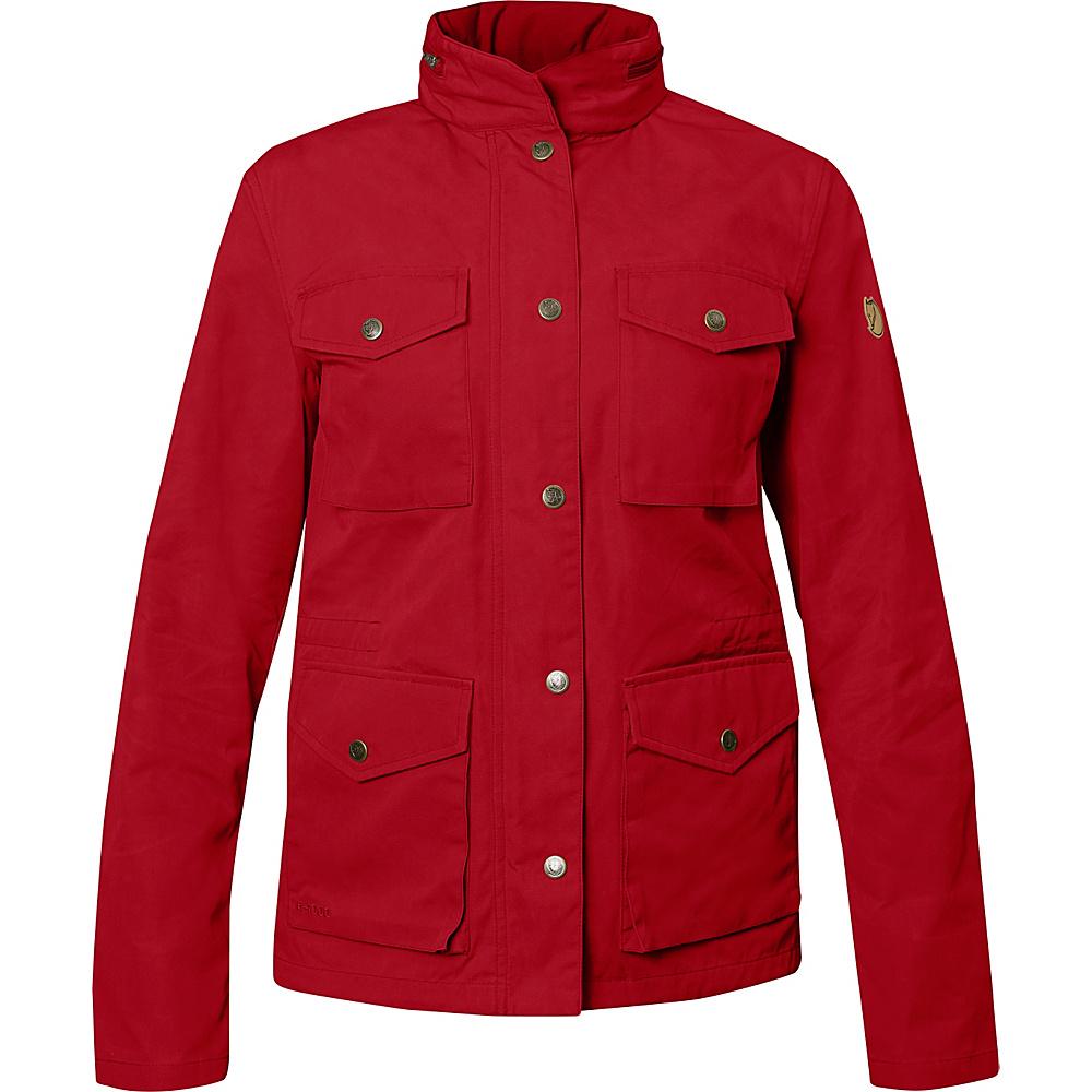 Fjallraven Womens Raven Jacket S - Deep Red - 34 - Fjallraven Womens Apparel - Apparel & Footwear, Women's Apparel