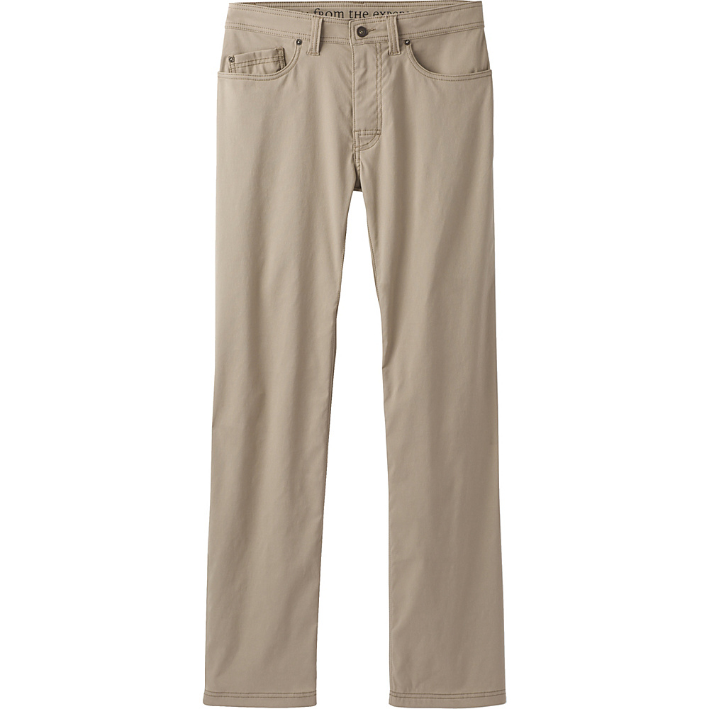 PrAna Brion Pants - 30 Inseam 30 - Dark Khaki - PrAna Mens Apparel - Apparel & Footwear, Men's Apparel