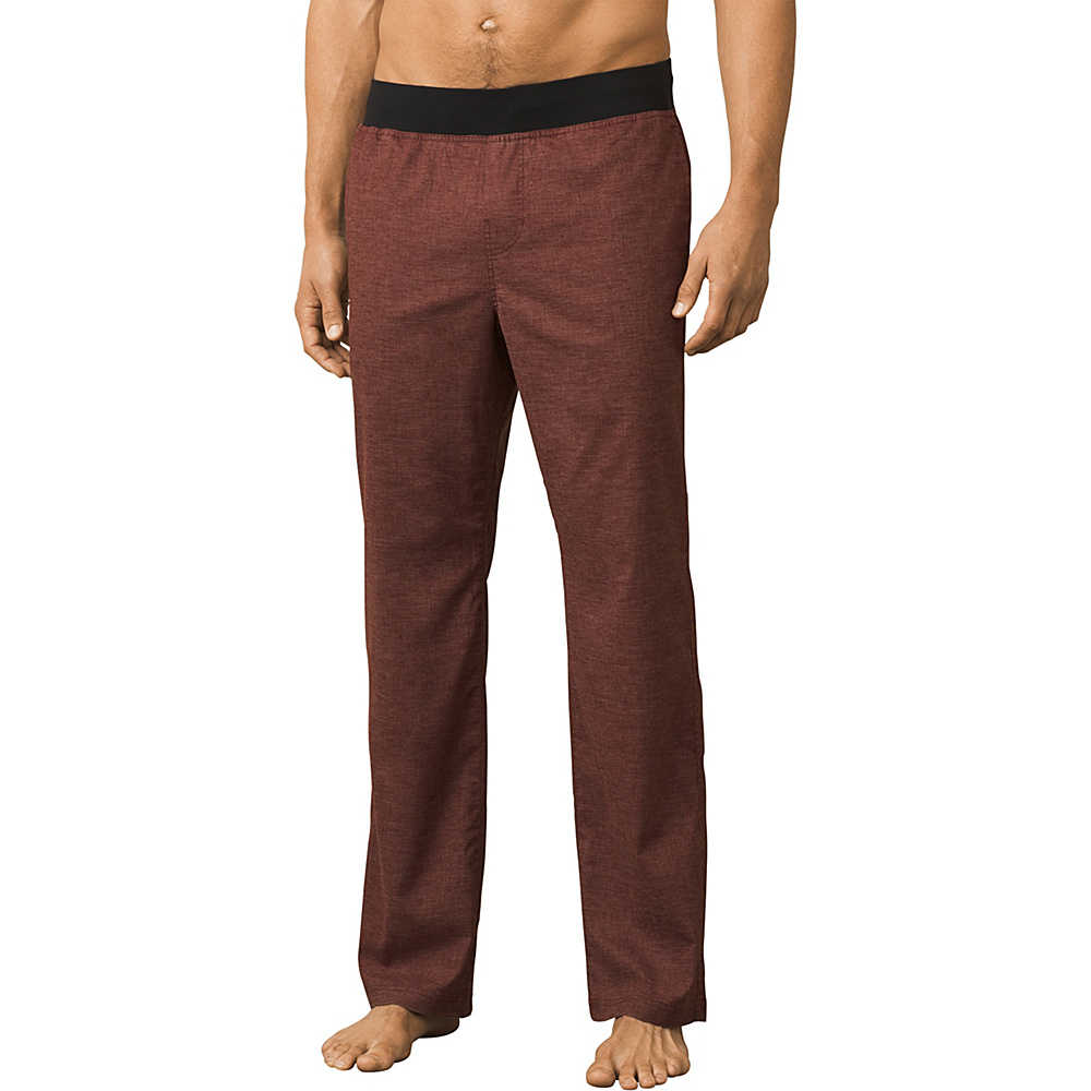 PrAna Vaha Pants - 30 Inseam L - Brown Herringbone - PrAna Mens Apparel - Apparel & Footwear, Men's Apparel