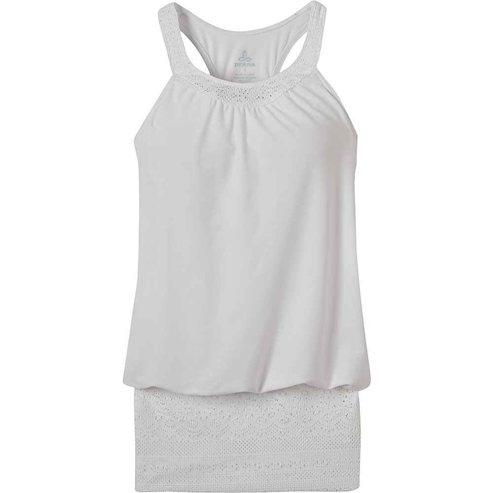 PrAna Ani Tank L - White - PrAna Womens Apparel - Apparel & Footwear, Women's Apparel