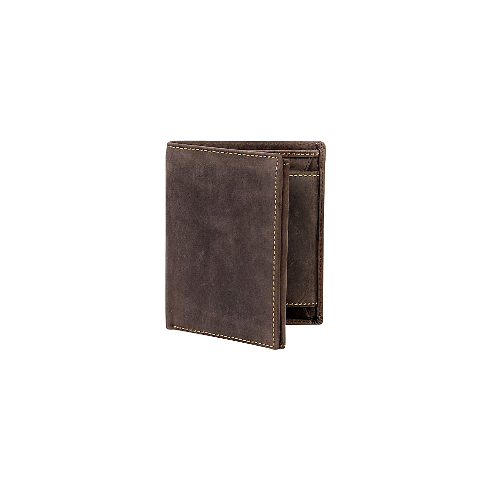 Visconti Hunter Mens Tri Fold Coin ID Holder Wallet Oil Brown Visconti Men s Wallets