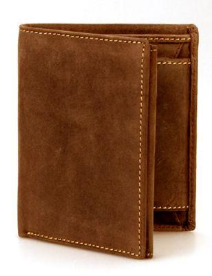 Visconti Hunter Mens Tri-Fold Coin & ID Holder Wallet Oil Tan - Visconti Men's Wallets