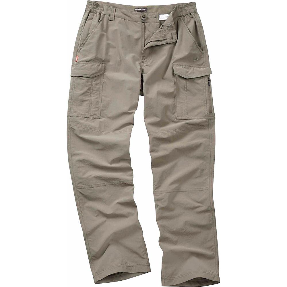 Craghoppers Nosilife Cargo Trousers - Regular 30 - Pebble - Craghoppers Mens Apparel - Apparel & Footwear, Men's Apparel