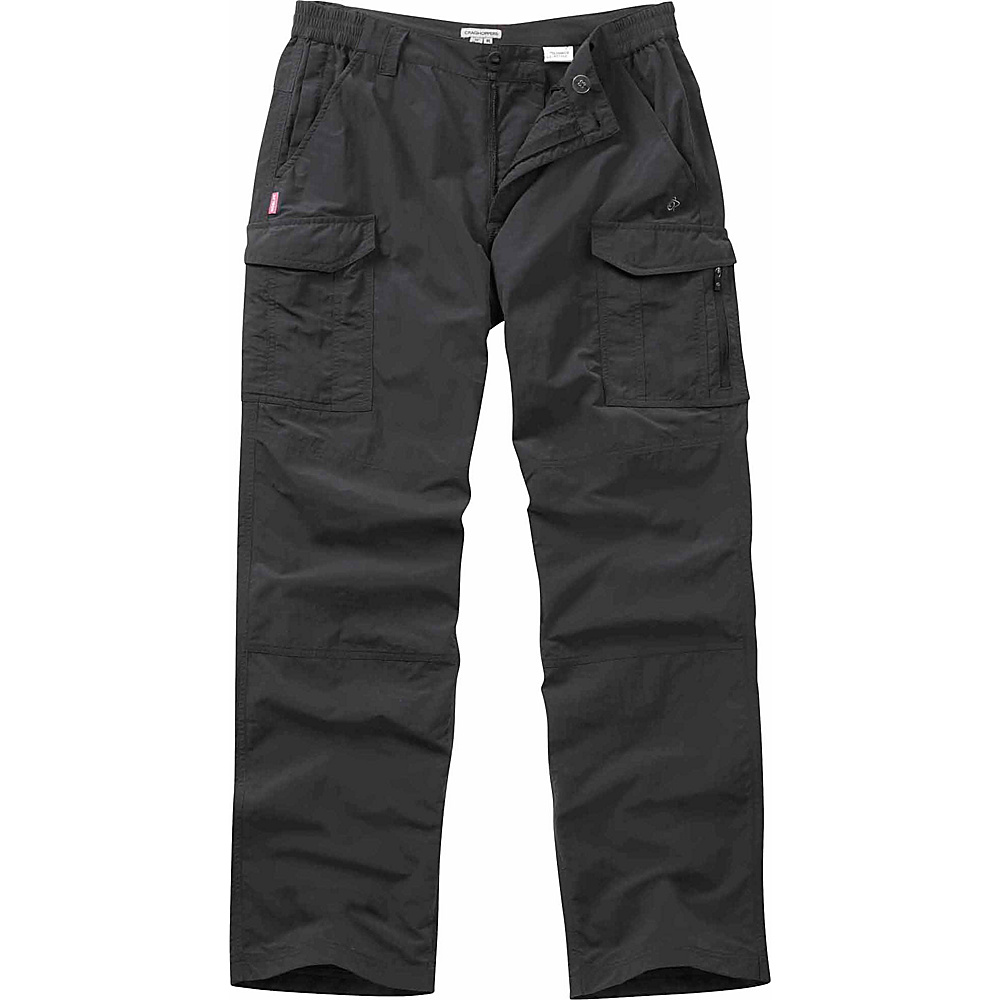 Craghoppers Nosilife Cargo Trousers - Regular 30 - Black Pepper - Craghoppers Mens Apparel - Apparel & Footwear, Men's Apparel