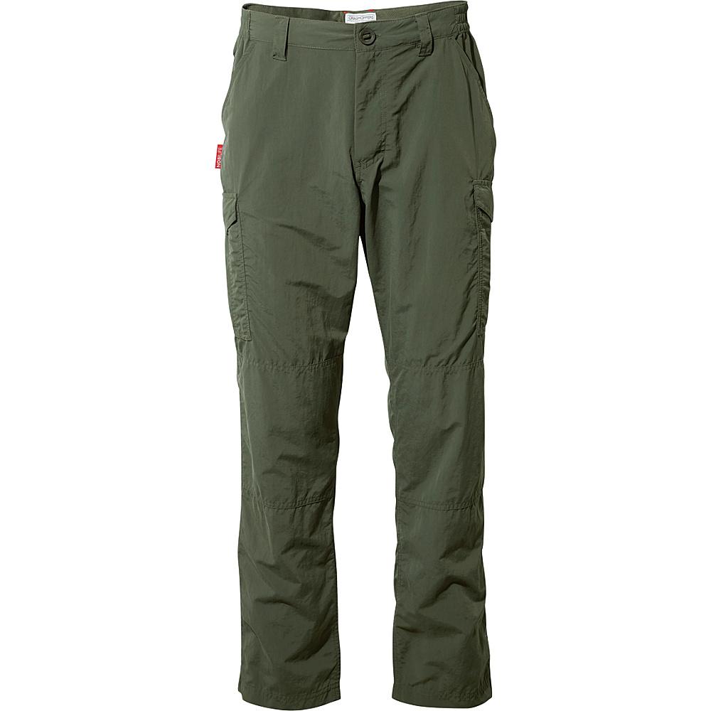 Craghoppers Nosilife Cargo Trousers - Regular 32 - Regular - Dark Khaki - Craghoppers Mens Apparel - Apparel & Footwear, Men's Apparel