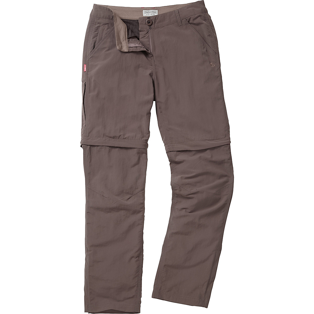 Craghoppers Nosilife Convertible Trousers - Regular 4 - Cafe Au Lait - Craghoppers Womens Apparel - Apparel & Footwear, Women's Apparel