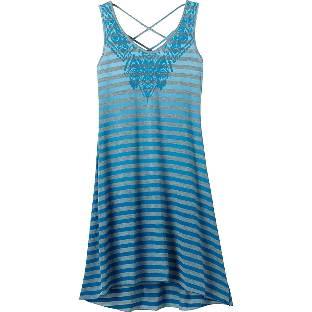 PrAna Henna Dress M - Electro Blue - PrAna Womens Apparel - Apparel & Footwear, Women's Apparel