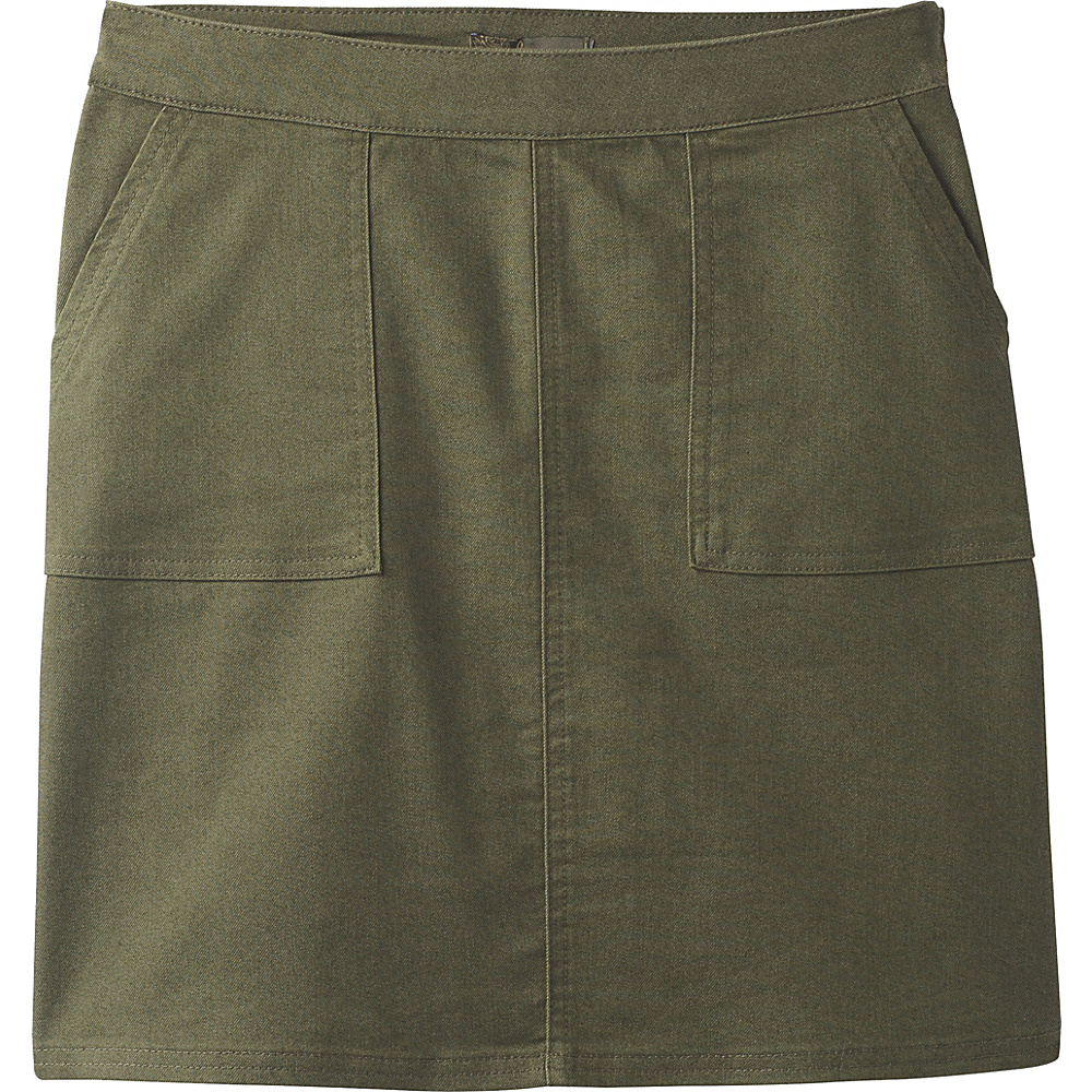 PrAna Kara Skirt 14 - Cargo Green - PrAna Womens Apparel - Apparel & Footwear, Women's Apparel