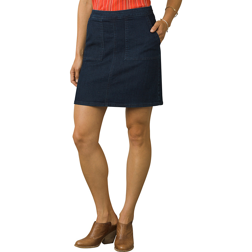 PrAna Kara Skirt 8 - Indigo Stripe - PrAna Womens Apparel - Apparel & Footwear, Women's Apparel