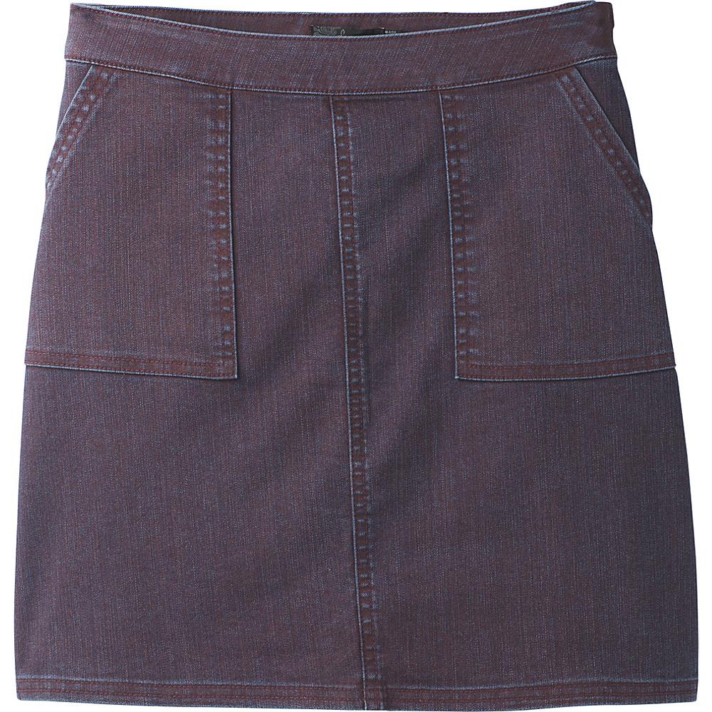 PrAna Kara Skirt 8 - Raisin Wash - PrAna Womens Apparel - Apparel & Footwear, Women's Apparel