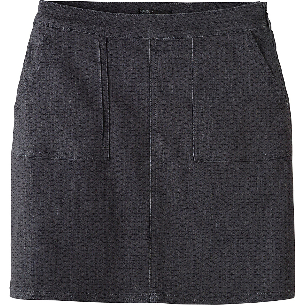PrAna Kara Skirt 12 - Charcoal Dots - PrAna Womens Apparel - Apparel & Footwear, Women's Apparel