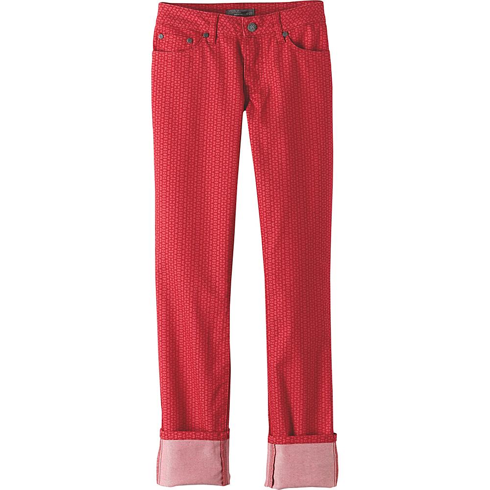 PrAna Kara Jeans 0 - Red Mixer - PrAna Womens Apparel - Apparel & Footwear, Women's Apparel