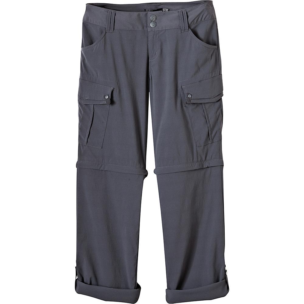 PrAna Sage Convertible Pants - Regular Inseam 2 - Coal - PrAna Womens Apparel - Apparel & Footwear, Women's Apparel