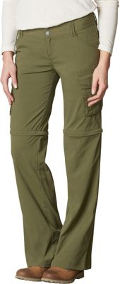 PrAna Sage Convertible Pants - Regular Inseam 0 - Cargo Green - PrAna Women's Apparel