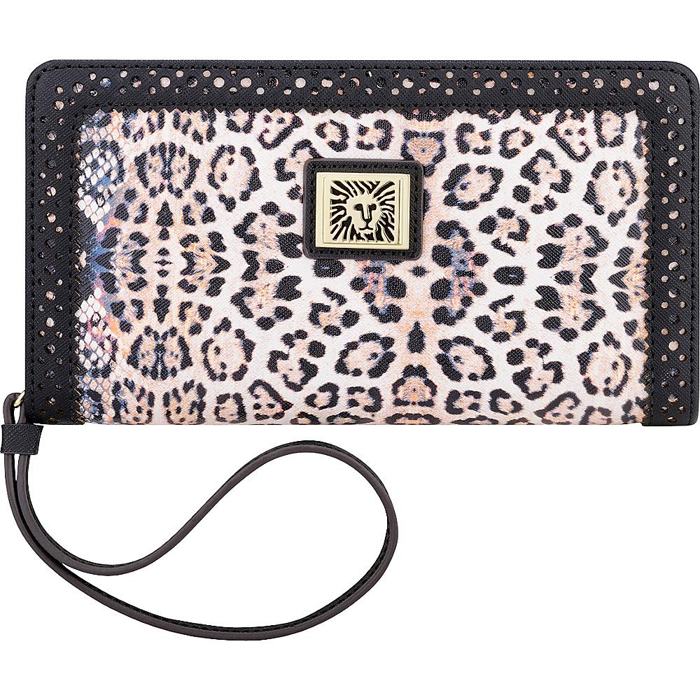 Anne Klein Perfect Tote Medium Wristlet Pink Multi/Black/Black - Anne Klein Manmade Handbags