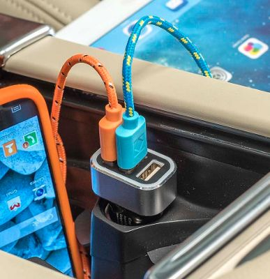 High Road 5A Triple USB Car Charger for Smartphones and