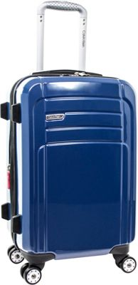 Calvin Klein Luggage Rome 21 Carry-On Hardside Spinner Blue - Calvin Klein Luggage Hardside Carry-On