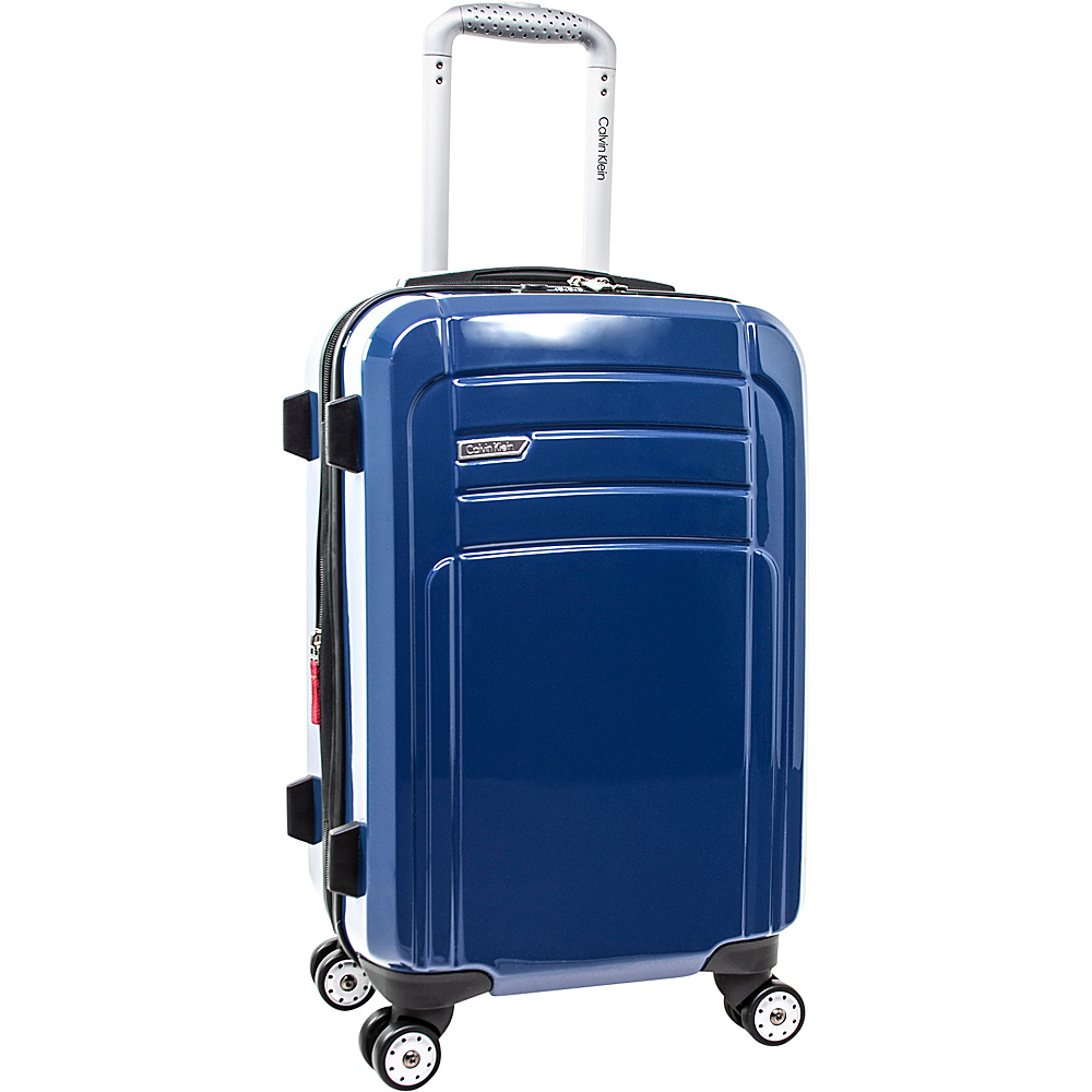 Calvin Klein Luggage Rome 21 Carry On Hardside Spinner Blue Calvin Klein Luggage Hardside Carry On
