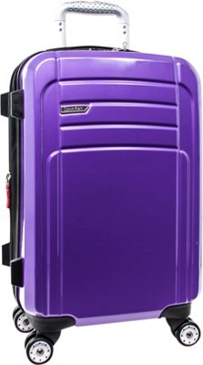 Calvin Klein Luggage Rome 21 Carry-On Hardside Spinner Plum - Calvin Klein Luggage Hardside Carry-On