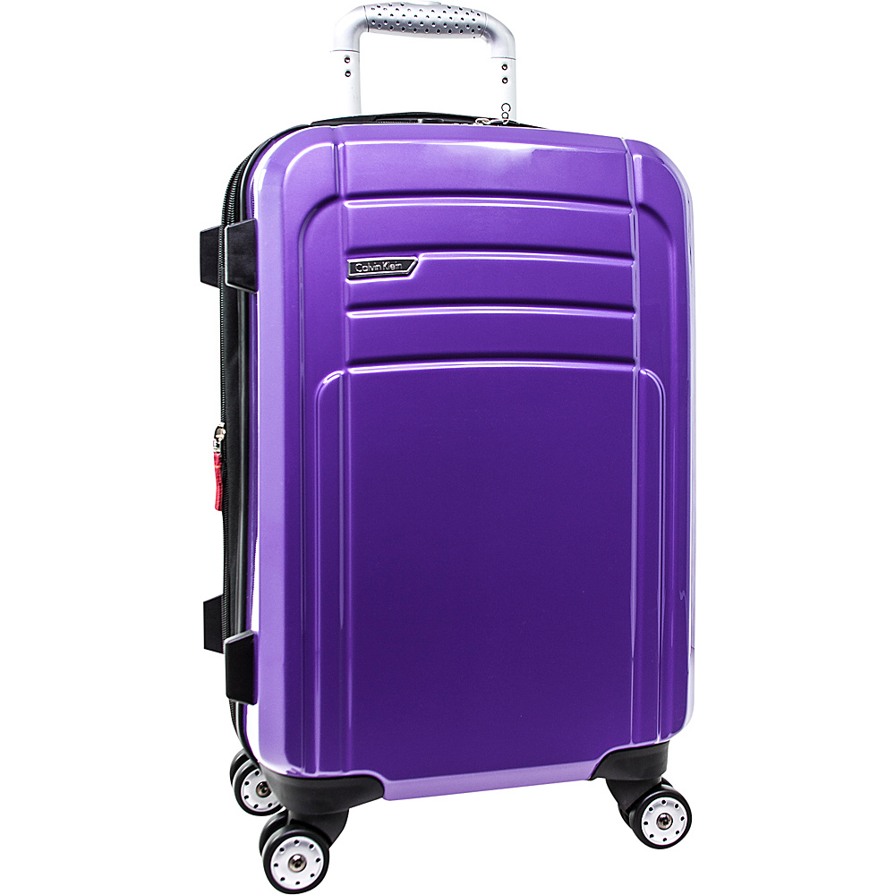 Calvin Klein Luggage Rome 21 Carry On Hardside Spinner Plum Calvin Klein Luggage Hardside Carry On