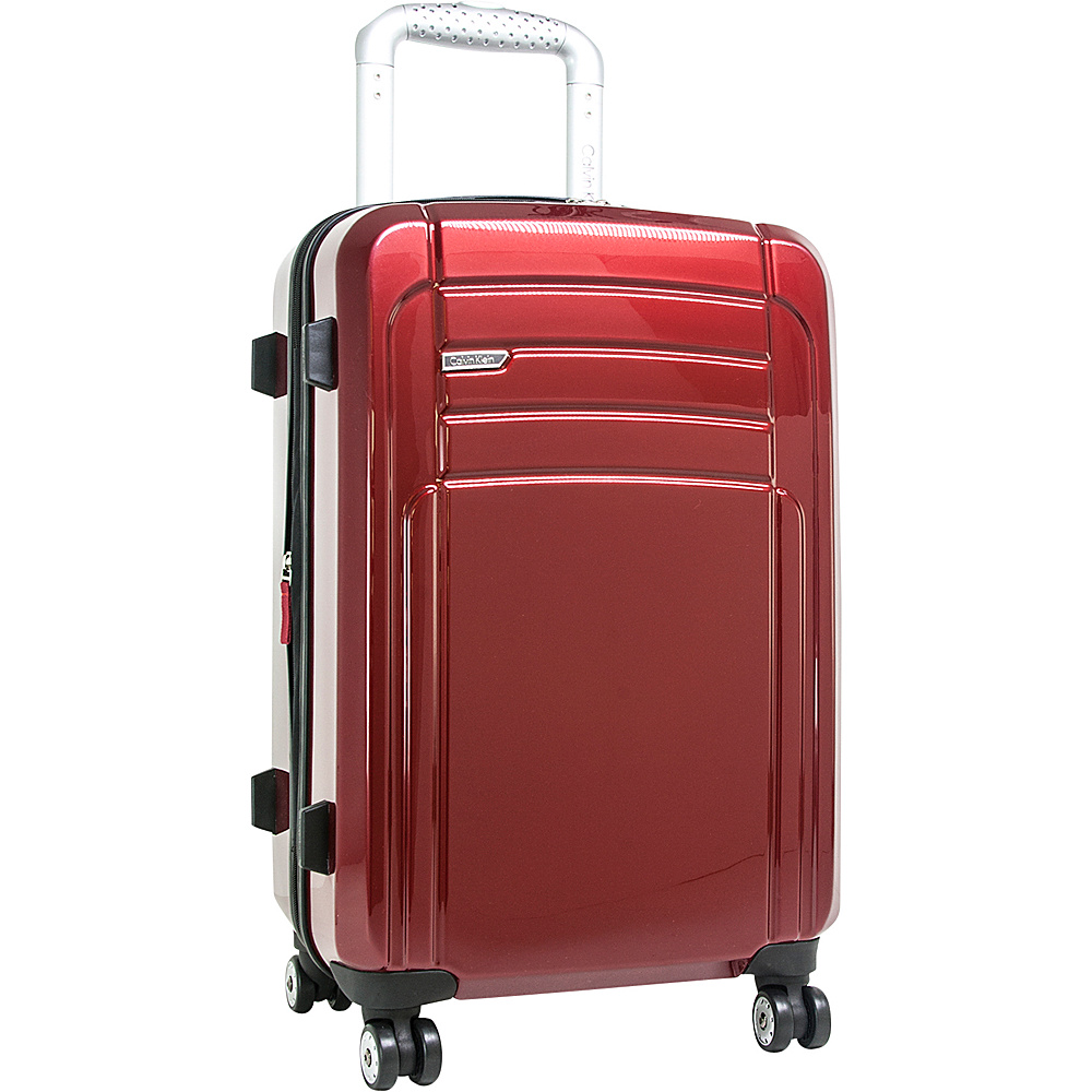 Calvin Klein Luggage Rome 21 Carry On Hardside Spinner Red Calvin Klein Luggage Hardside Carry On
