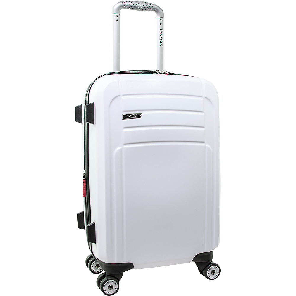Calvin Klein Luggage Rome 21 Carry On Hardside Spinner White Calvin Klein Luggage Hardside Carry On