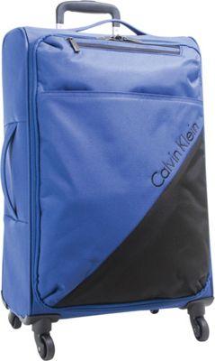 Calvin Klein Luggage Chelsea 29 Upright Softside Spinner Navy - Calvin Klein Luggage Softside Checked