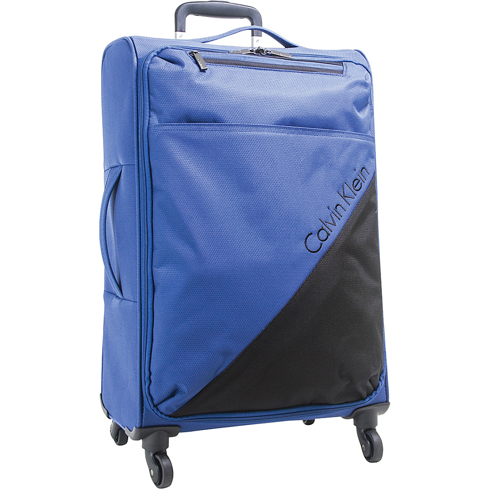 Calvin Klein Luggage Chelsea 29 Upright Softside Spinner Navy Calvin Klein Luggage Softside Checked