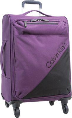 Calvin Klein Luggage Chelsea 29 Upright Softside Spinner Purple - Calvin Klein Luggage Softside Checked