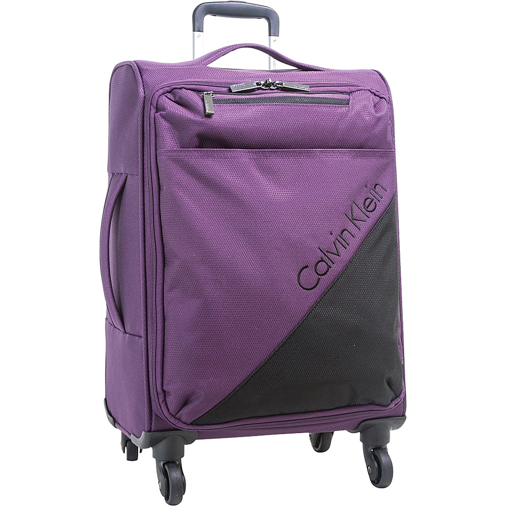 Calvin Klein Luggage Chelsea 29 Upright Softside Spinner Purple Calvin Klein Luggage Softside Checked