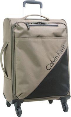 Calvin Klein Luggage Chelsea 29 Upright Softside Spinner Tobacco - Calvin Klein Luggage Softside Checked