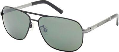 Timberland Eyewear Aviator Sunglasses Black/Gunmetal - Timberland Eyewear Sunglasses