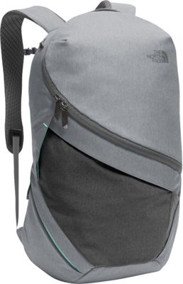 The North Face Womens Aurora Laptop Backpack TNF Medium Grey Heather/Ice Green - The North Face Business & Laptop Backpacks