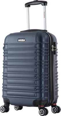inUSA New York Collection 20 inch Carry-on Lightweight Hardside Spinner Suitcase Blue - inUSA Hardside Carry-On