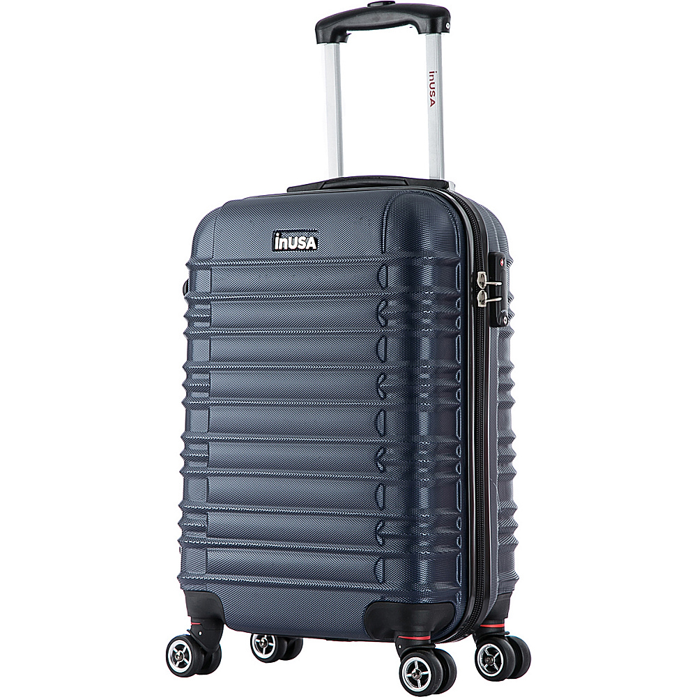 inUSA New York Collection 20 Carry on Lightweight Hardside Spinner Suitcase Blue inUSA Hardside Carry On