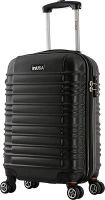 inUSA New York Collection 20 inch Carry-on Lightweight Hardside Spinner Suitcase Black - inUSA Hardside Carry-On
