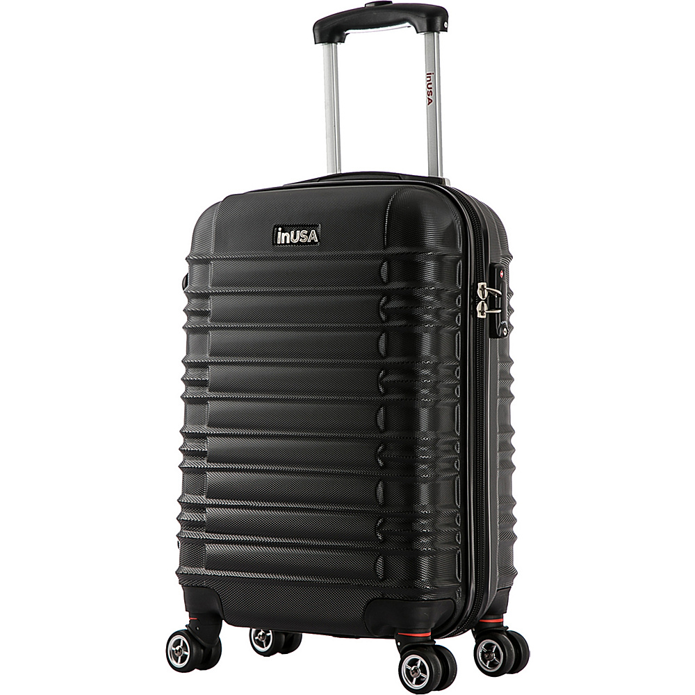 inUSA New York Collection 20 Carry on Lightweight Hardside Spinner Suitcase Black inUSA Hardside Carry On
