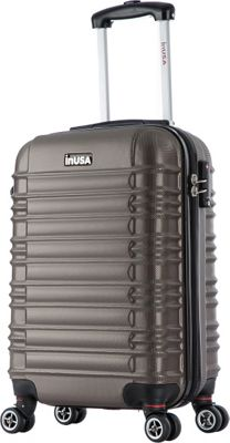 inUSA New York Collection 20 inch Carry-on Lightweight Hardside Spinner Suitcase Brown - inUSA Hardside Carry-On