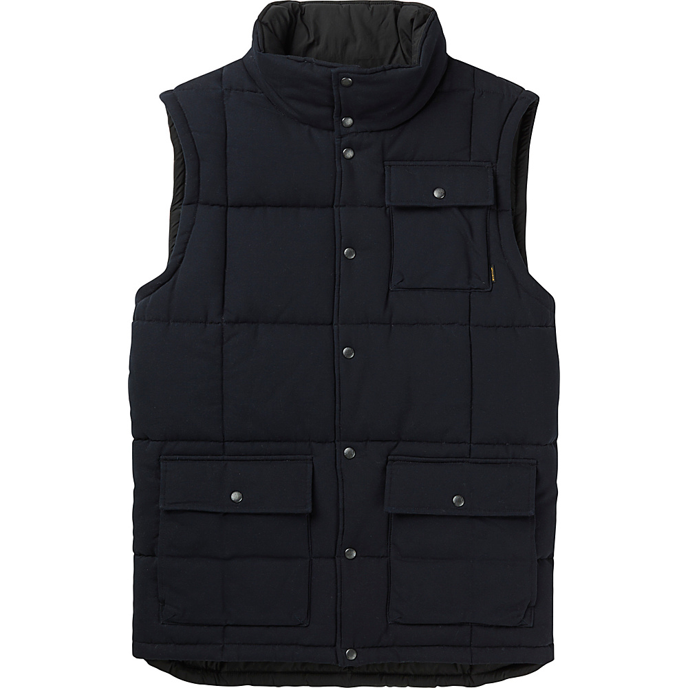 Burton Mens Woodford Vest S True Black Burton Men s Apparel