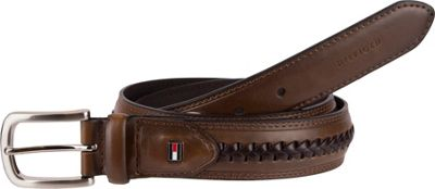 Tommy Hilfiger Accessories 35MM Non-Reversible with Tapered Tab and Center Lace Detail 34 - Brown - Tommy Hilfiger Accessories Other Fashion Accessories