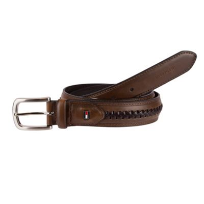 Tommy Hilfiger Accessories 35MM Non-Reversible with Tapered Tab and Center Lace Detail 44 - Brown - Tommy Hilfiger Accessories Other Fashion Accessories