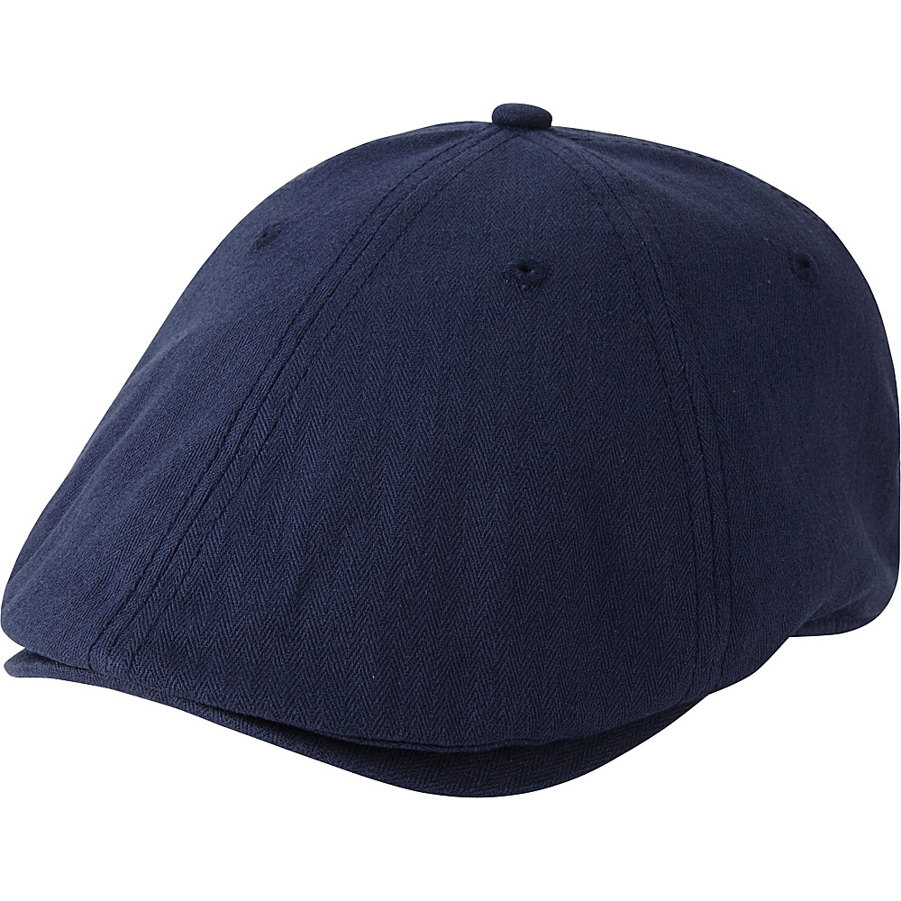 Ben Sherman Herringbone Gatsby Hat Navy Blazer - S/M - Ben Sherman Hats/Gloves/Scarves