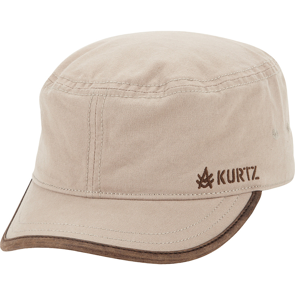 A Kurtz Military Cap With Logo Emboss Khaki A Kurtz Hats Gloves Scarves