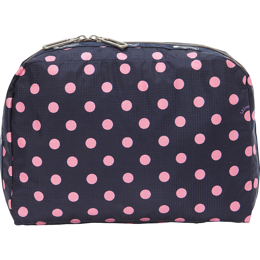 LeSportsac XL Essential Cosmetic Sunshine Dot Pink - LeSportsac Ladies Cosmetic Bags