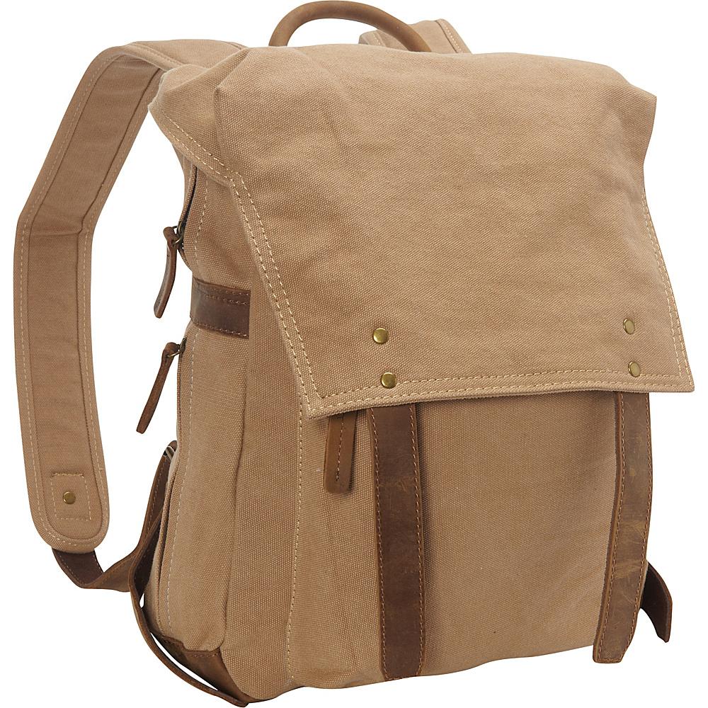 Vagabond Traveler Sport Canvas Backpack Rucksack Khaki - Vagabond Traveler Business & Laptop Backpacks - Backpacks, Business & Laptop Backpacks